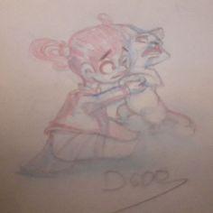 Today last  drawing :little girl and her cat  #comics #cartoonstyle #cartoons #DGDOdraw #cartoon #doodles #girl #comic #dailysketch #dessiner #dessins #dibujo #dibujos #drawn #drawing #handdrawn #illustration#pencil #girl s#littlegirl #drawings #sketch #sketchbook #sketches #cats #cat #chat