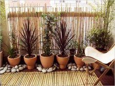 Déco ambiance zen sans vis à vis sur le balcon
