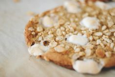 rice krispies cookies with brown sugar and mini marshmallows; chewy and soft and had the crispy texture from the rice crispies and the delicious sweetness and chewiness from the toasted marshmallows