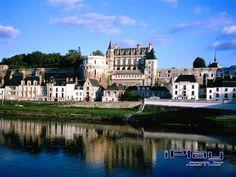 Castelo real de Amboise, grandioso palácio, localizado em Amboise na França