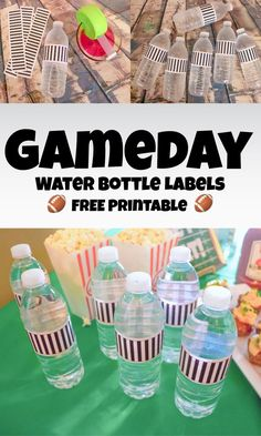 GAMEDAY WATER BOTTLE LABELS ~ FREE PRINTABLE