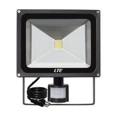 4X 50W LED Floodlight PIR Sensor Cool White Lamp Garden Outdoor Seucrity IP67