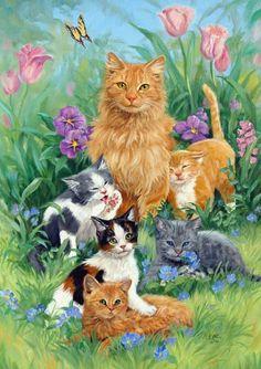 Toland Home Garden Meadow Cats Garden Flag