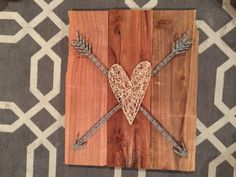 Heart and Arrow - Nail and String Art