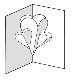 pop up card templates Make a Pop-up Card of Hearts: 12 Steps Pop Out Cards, 3d Cards, Paper Cards, Love Cards, Arte Pop Up, Pop Up Art, Heart Pop Up Card, Heart Cards, Diy Cards With Hearts
