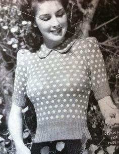 Jessica 40s Knitting Pattern knitting pattern vintage style by VanessaLovesVintage, $2.00