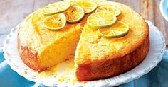 Bake a simple sour cream cake and drown it in lip-smacking lime syrup.
