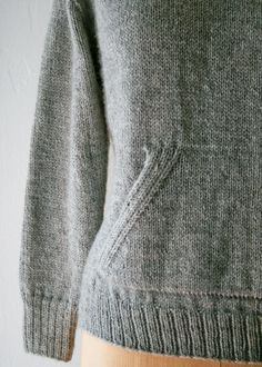 Sweatshirt Sweater by purlbee: So cozy!   #Knitting #Swetshirt_Sweater