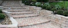 Plaza Stone Rectangle, Square, and Half Square Paver Stairs and Walkway