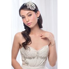 'Ornella' Silver and Ivory Bugle Beaded, Pearl & Diamonte Hair Piece C – Roman & French - Leader in Bridal Jewellery, Wedding Hair Accessories, Bridesmaids Dresses and Wedding Gifts. Bridal Comb, Hair Comb Wedding, Headpiece Wedding, Bridal Headpieces, Bridal Robes, Bridal Dresses, Bridesmaid Dresses, Bridesmaids, Loose Hairstyles