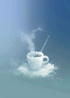 Cloud watching and coffee drinking