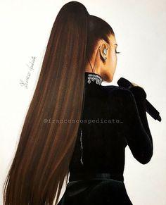 @liztaylorxo Ariana Grande Drawings, Ariana Grande Wallpaper, Adriana Grande, Chica Cool, Dangerous Woman Tour, Pretty Drawings, Celebrity Drawings, Queen, Beautiful People