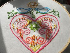 Embroidered Heart #heart #embroidery