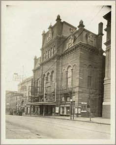 Academy of Music and Auditorium Theatre 500 block, North Howard Street, Baltimore, Maryland ca. 1927
