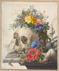 Herman Henstenburgh (Dutch, 1667–1726). Vanitas Still Life. The Metropolitan Museum of Art, New York. Purchase, Anonymous Gift, in memory of Frits Markus, and Frits and Rita Markus Fund, 2003 (2003.30) #skulls #Halloween