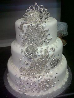 49 Amazing Winter Wedding Cakes You Will Totally Love - VIs-Wed Elegant Wedding Cakes, Elegant Cakes, Beautiful Wedding Cakes, Gorgeous Cakes, Wedding Cake Designs, Pretty Cakes, Amazing Cakes, Wedding Ideas, Wedding Night
