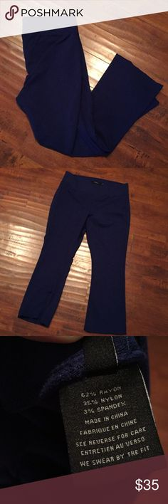 Torrid Solid Blue Pants Excellent condition. No rips, stains, or flaws. True to size. They have a lot of stretch and fit like sweat pants, but could be pulled off as trousers. Very comfortable! torrid Pants