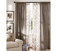 Kendra Sheer Trellis Pole Pocket Drape 50 X 84 Blue