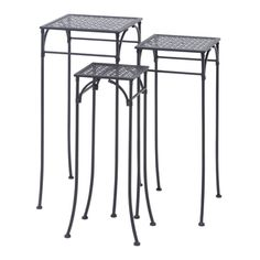 24-inch Metal Sqaure Plant Stand (Set of 3) - 17255531 - Overstock Shopping - Great Deals on Planters, Hangers & Stands