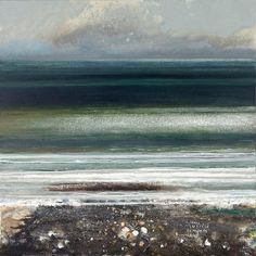 Campden Gallery - Painters - Kurt Jackson - Clams, mussels, limpets and winkles. Abstract Landscape Painting, Seascape Paintings, Landscape Art, Landscape Paintings, Beach Paintings, Landscapes, Kurt Jackson, Art Gallery Uk, St Just