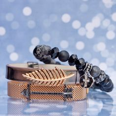 Keep Collective faith beads bracelets cross feather arrow hematite black jewelry fall vibes summer fall winter spring Personalize make it your own tell your story rose gold mesh bracelets key fobs bracelets necklace jewelry fashion sparkle shine gold silver black mirrored gifts for her.  shop my link: www.keepcollective.com/with/marleegraham