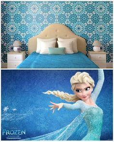 Como decorar um quarto frozen