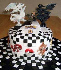 Black and White Pokemon Cake by neva