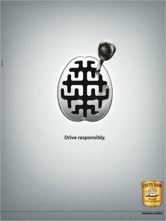 Cutty Sark Scotch Whisky: Drive responsibly.