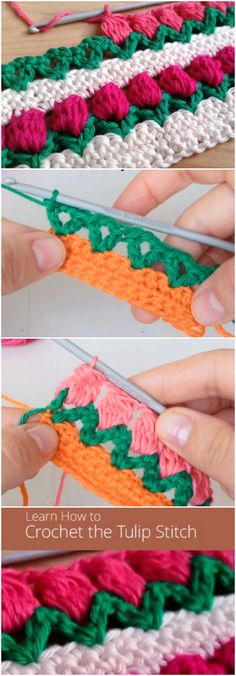 Learn How To Crochet Tulip Stitch