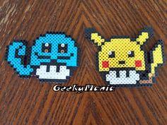 Pokemon/Mario Mushroom Mashup Perler Beads by GeekyMania