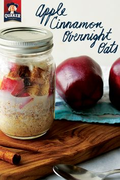 Simplify your mornings with our Apple Cinnamon Overnight Oats recipe. Just refrigerate all your ingredients in a jar the night before and when you wake up you'll have the perfect quick and easy breakfast. If you like your oats hot, heat this concoction up for a minute or two.