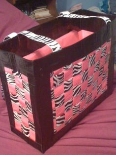 Woven Duct Tape Purses....I'd make it a basket?