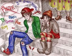 TJ and Spinelli (and Finster in background) from the show Disney's Recess I love that show so much, one of my favorites. TJ Detweiler was my hero, really I wanted to be just like him. Disney Xd, Disney Couples, Disney Fan Art, Disney Cartoons, Disney Movies, Disney Pixar, Recess Cartoon, Cartoon Tv, Cartoon List