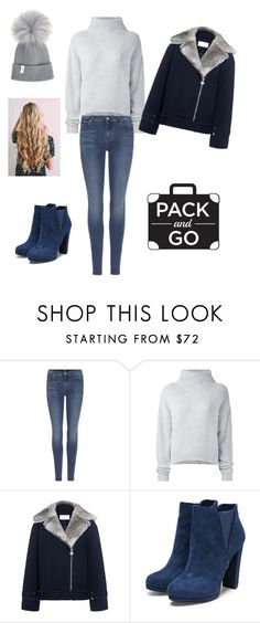 """Sans titre #24"" by nina-ducoudray ❤ liked on Polyvore featuring 7 For All Mankind, Le Kasha and Carven"