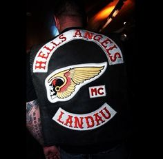 I think it's awesome that there's a Hell's Angels chapter in Landau (my last name), Germany!