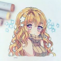 Hi~ On here Yoai posts her artwork and photos of herself/food/snacks/kawaii things she finds! If you play mabi, Yoai is Cicishu on the Mari server, feel free to add/note~ Copic Drawings, Anime Drawings Sketches, Anime Sketch, Kawaii Drawings, Manga Drawing, Manga Art, Cute Drawings, Anime Chibi, Anime Kawaii
