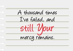 God's mercy endures forever.#quotes