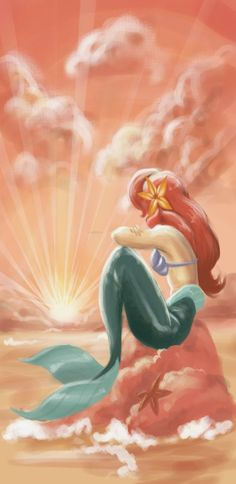 Ariel - The Little Mermaid. Tied for favorite Disney movie ever. Disney Pixar, Walt Disney, Disney Fan Art, Disney And Dreamworks, Disney Magic, Disney Characters, Ariel Disney, Disney Princesses, Disney Dream