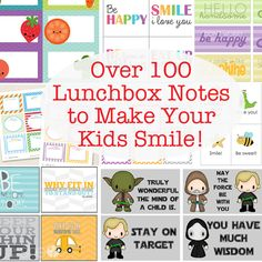 Over 100 Lunchbox Notes to Make your Kids Smile | HowDoesShe.com