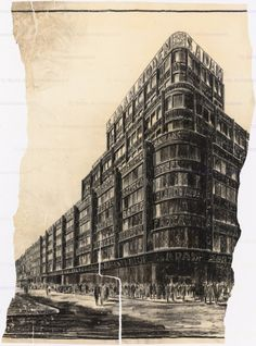 Poelzig Hans  (1869-1936): Geschäftshaus S. Adam, Leipziger Straße/ Friedrichstraße, Berlin