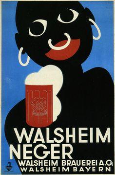 Walsheim, Germany beer vintage poster / advert