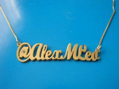 Gold Plated Twitter Name Necklace - it may seem ridiculous but I totally want one