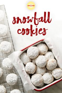 Crumbly, sweet, nutty…what more could you want? 🤤 Our Snowball Cookies are dusted with powdered sugar and filled with pecans. Pair them with a cup of coffee or tea for the perfect winter treat. Snowball Cookies, Snowball Fight, Holiday Cookies, Cookie Desserts, Cookie Recipes, Snack Recipes, Dessert Recipes, Snacks, Holiday Baking