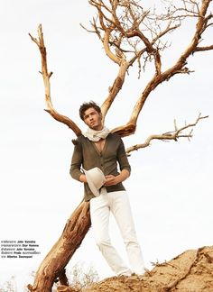 Francisco Lachowski for Harper's Bazaar Men Thailand with the desert concept