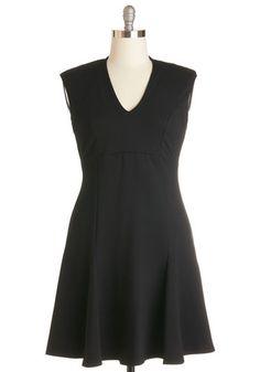 A Dash of Flair Dress in Black | Mod Retro Vintage Dresses | ModCloth.com