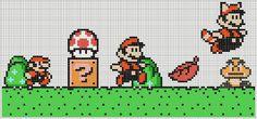 Super Mario Brothers NES knitting charts
