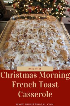 Make ahead Christmas morning French Toast Casserole! I make it for my family eve… – Breakfast Recipes Make ahead Christmas morning French Toast Casserole! I make it for my family eve… – Breakfast And Brunch, Christmas Morning Breakfast, Christmas Brunch, Christmas Cooking, Breakfast Dishes, Breakfast Bake, Christmas Meals, Xmas, Christmas Dishes