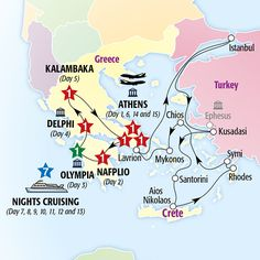 Grecian Fables Cruise Premier (Summer 2016) map