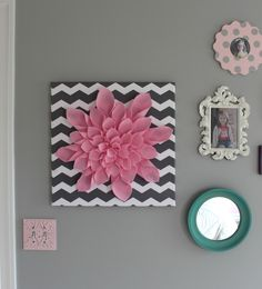 I was inspired by a pin I had seen on Pinterest to tackle this simple piece of art for Quinn's room. There was no tutorial, but it looked pr...