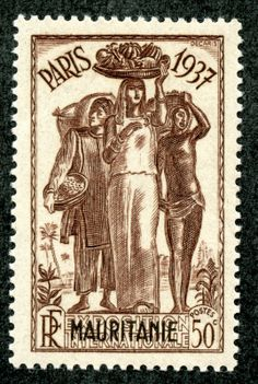 1937 - World exhibition 50 - stamp - Ivory Coast [CIV] Rare Stamps, African Tribes, Exhibition, Ivory Coast, Mail Art, Stamp Collecting, France, Postage Stamps, Art Forms